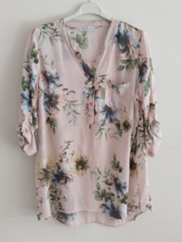 Blouse flower roze