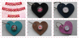 Sleutel/tas hanger Valentijn hart