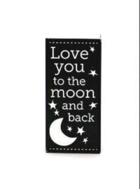 """Doosje met badblokjes """"love you to the moon and back"""""""