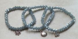 Armband opal greige facet