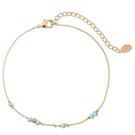 Enkelbandje Tiny beads gold plated