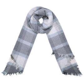 Sjaal block grijs