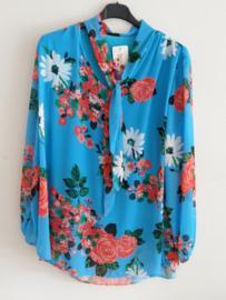 Top bloemen blauw