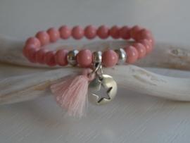 Kralen armband antique pink