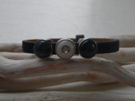 Cuoio armband  blauw Swarovski