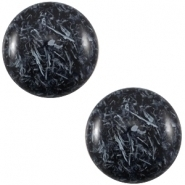 Slider zilver met cabochon feltro shinny dark blue