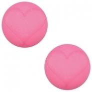 Slider zilver met cabochon hart matt rose pink