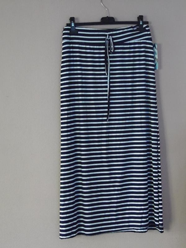Welp Lange rok blauw/wit gestreept | Fashion | bij Hebbe IL-96