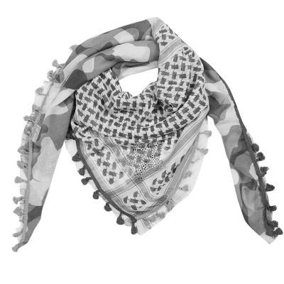Sjaal star camouflage grijs