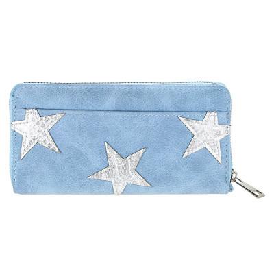 Portemonnee pretty little stars blauw
