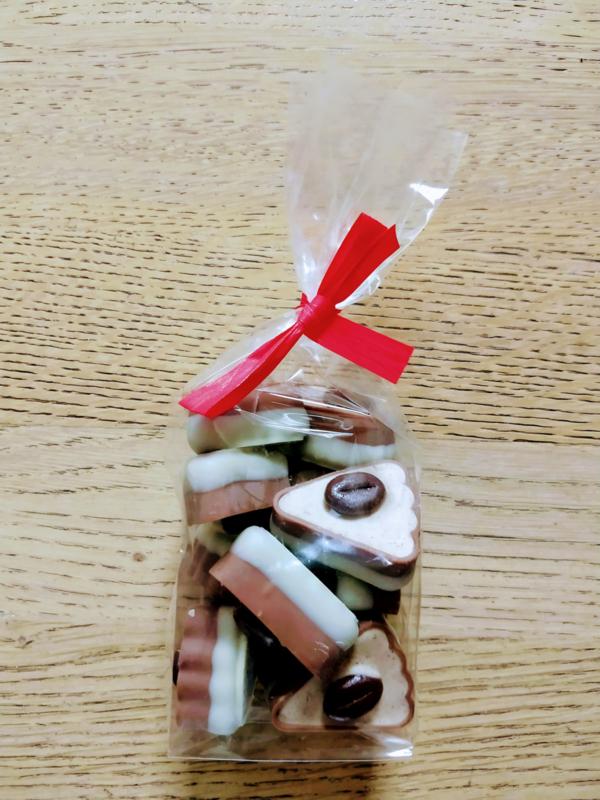 herfstchocolade taartpunt cappuccino  150g