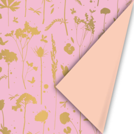Cadeaupapier | GROW | PINK-GOLD-PEACH