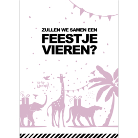 Uitnodiging | TROPICAL PARTY | ROZE