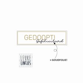 Sticker | Gedoopt, Gefeliciteerd