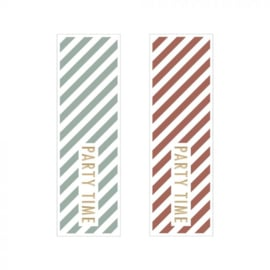 Stickers | cadeaulabel | PARTYTIME | WARM ROOD - SAGE