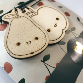 Houten gifttag | APPEL - PEER