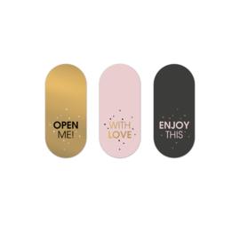 Stickers   RETRO  PINK-GOLD