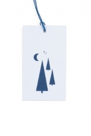Gifttag | Tree Powder Blue