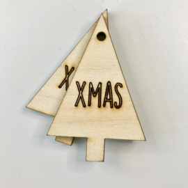 Gifttag | HOUT | KERSTBOOM