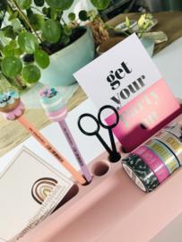Desk organizer | WASHI | ROZE | WIT | GEEL
