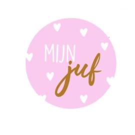 Sticker | MIJN JUF | ROZE-BRONS