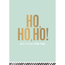 Kerstkaart | HO HO HO