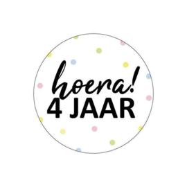 Stickers | HOERA |  4 JAAR