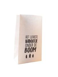 Blokzakje | HET LEUKSTE kadootje ONDER DE BOOM | WIT-ZWART