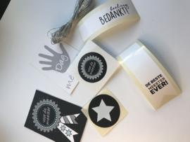 Gifttag | sticker pakketje | MEESTER