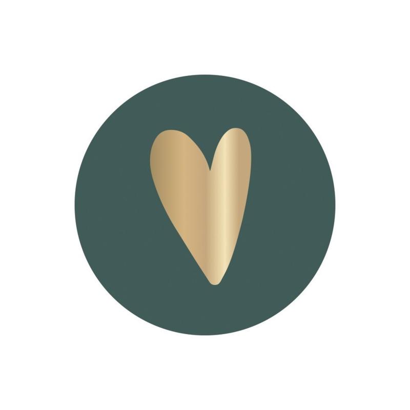 STICKER | HEART Forest Green