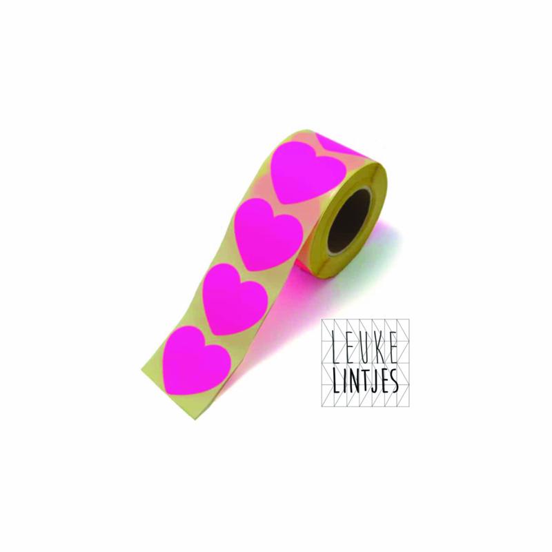 Stickers | hart | Neon roze