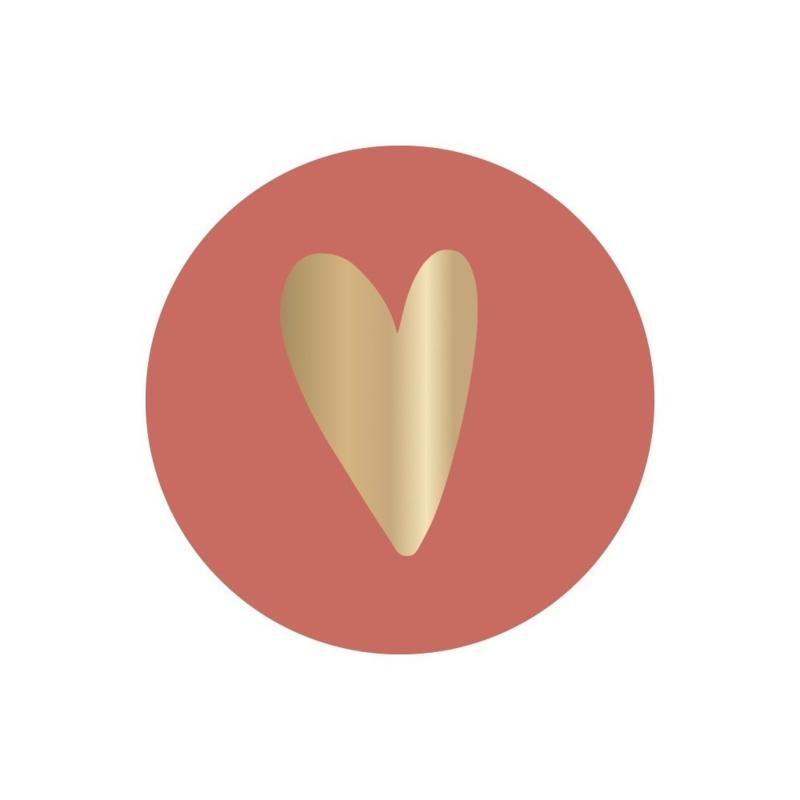 STICKER | HEART Burgundy
