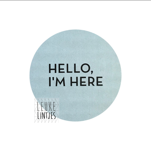 "STICKER | HELLO I""M HERE Mint"