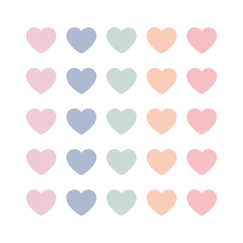 Sticker - sluitzegel | MINI HARTJES | PASTEL