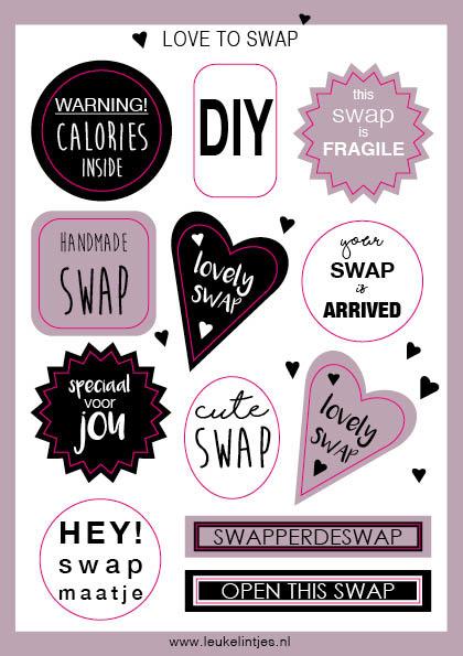 Stickervel |  SWAP | ROZE