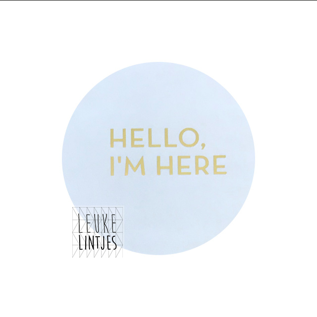 "STICKER | HELLO I""M HERE Wit"