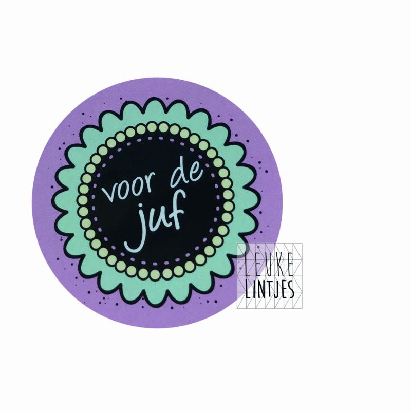 Sticker | voor de juf