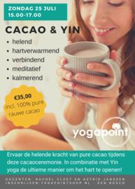 Cacaoceremonie met Yin yoga - zondag 25 juli - 15.00-17.00 u
