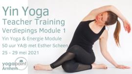 Yin Yoga Teacher Training  25 - 29 Mei 2021 - Yogapoint Arnhem