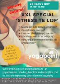 Masterclass 'Stress te lijf' - Yoga Point Den Bosch - zondag 8 november - Chantal & Rachel