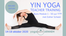 Yin Yoga Teacher Training, 50h/YA® 14-18 Okt 2020 (2 deelbetalingen) - Yoga Point Arnhem