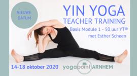 Yin Yoga docentopleiding basis 14 - 18 okt 2020, 50h/YA® Yogapoint Arnhem