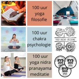 Yoga asana en Chakra psychologie (100 uur)