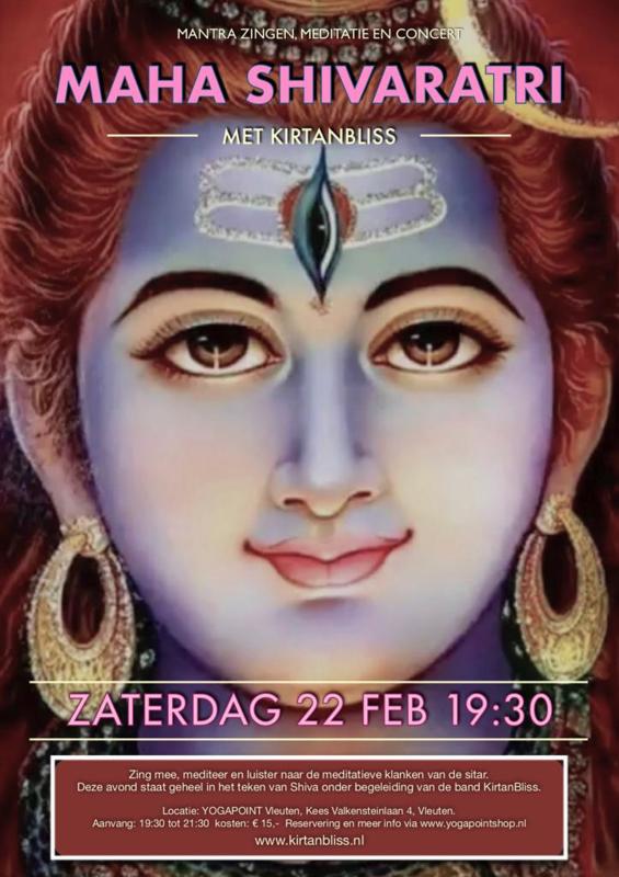 Kirtan Bliss - Yoga Point Vleuten - Zaterdag 22 februari - 19.30 tot 21.30 uur - Live concert!