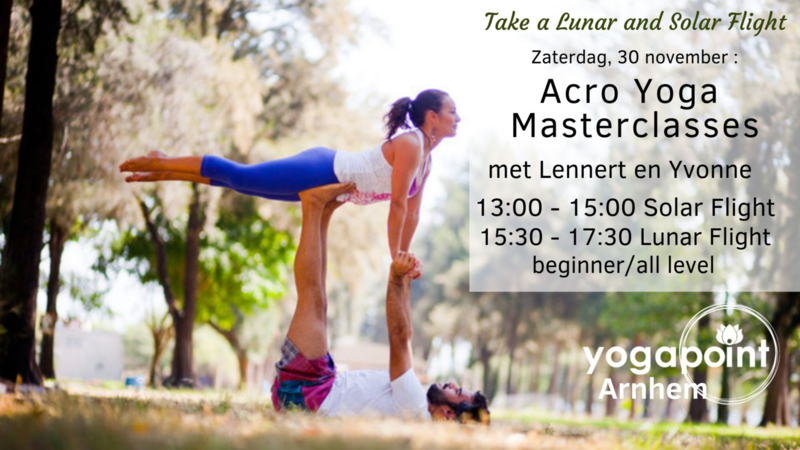 Acro Yoga Masterclass, Lunar Flight -  Zaterdag, 30 november  15.30-17.30, Yogapoint Arnhem