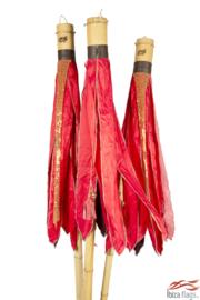 rode bamboe kerstvlaggen huren