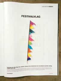 Festival vlag Multicolor in Leven Magazine