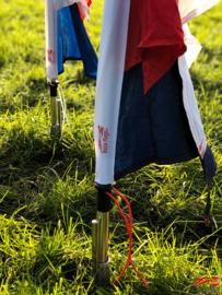 10 festival vlaggen huren rood wit blauw