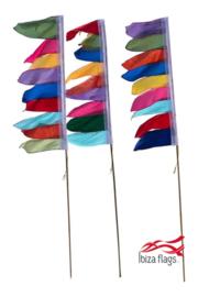 Set van 3 tuinvlaggen Multicolor