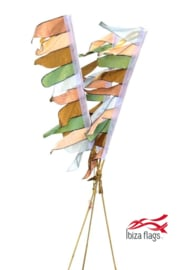 Set van 3 tuinvlaggen Pastel